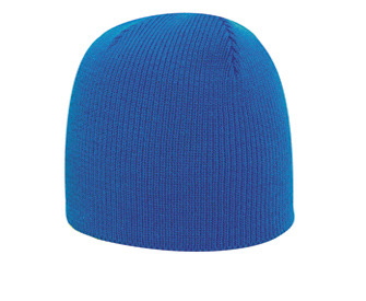 Acrylic knit solid color beanies, 8 1/2