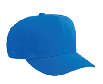 Alternative wool blend solid color six panel pro style caps