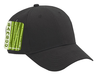 Brushed bamboo twill solid color six panel low profile pro style caps