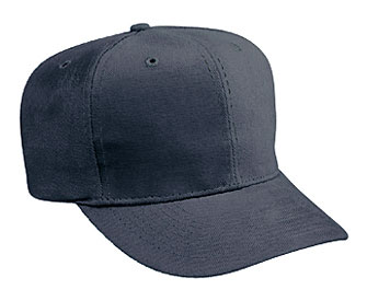 Brushed bull denim solid and two tone color six panel pro style caps