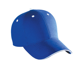 Brushed cotton canvas sandwich visor solid and two tone color six panel low profile pro style caps