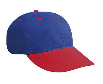 Brushed cotton twill OTTO Sport two tone color six panel low profile pro style caps
