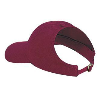Brushed Cotton Blend Twill Four Panel Ponytail Cap