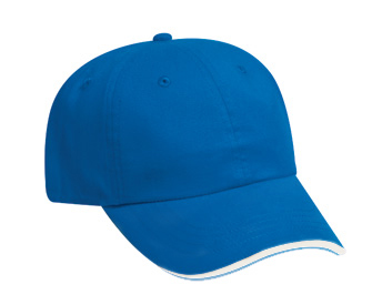 Brushed cotton twill sandwich visor solid color six ...