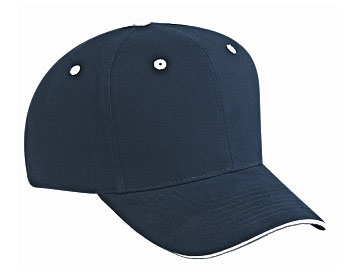 Brushed cotton twill sandwich visor solid and two tone color six panel pro style caps