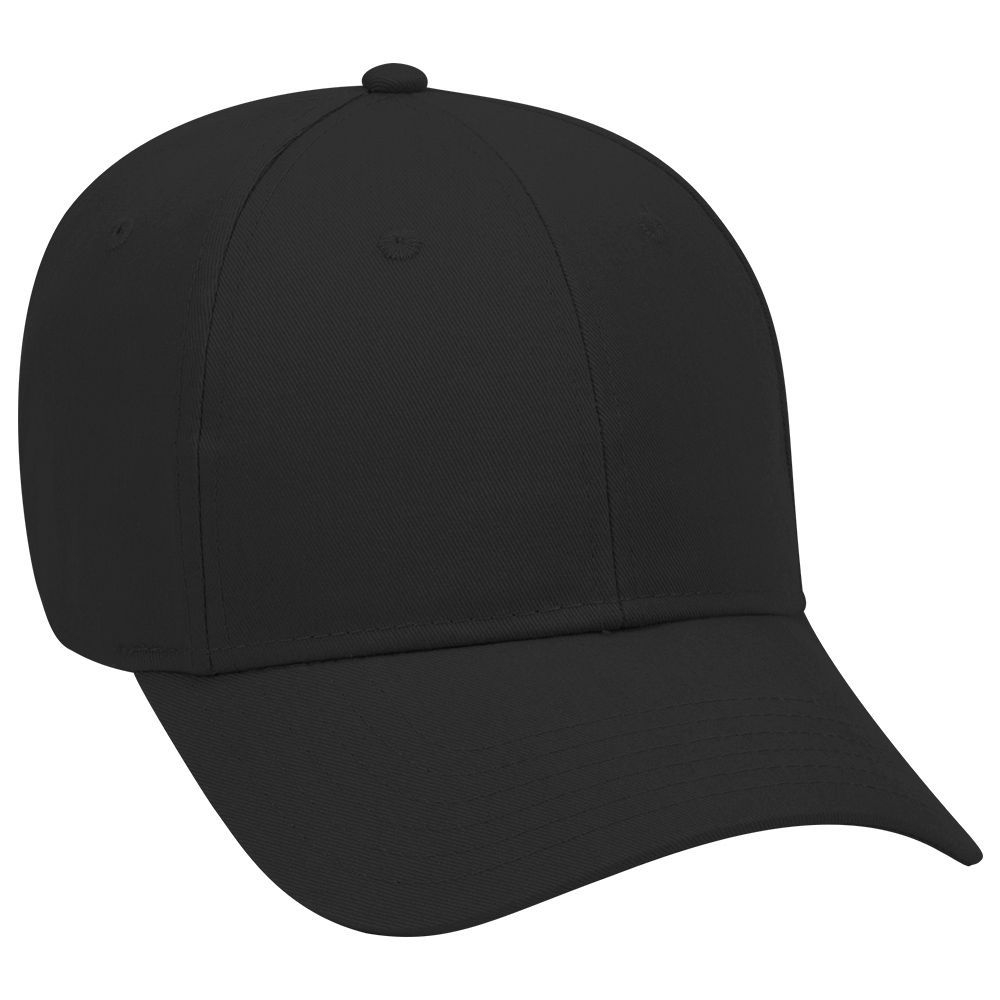 Brushed cotton twill solid color six panel low profile pro style caps