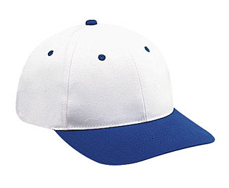 Brushed cotton twill solid and two tone color six panel low profile pro style caps