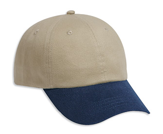 Brushed cotton twill solid and two tone color six panel ...