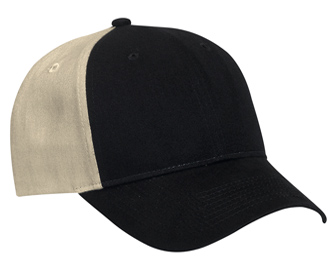 Brushed cotton twill two tone color six panel low profile pro style caps