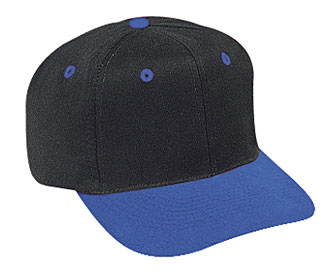 Brushed cotton twill two tone color six panel pro style caps