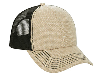 Burlap two tone color six panel low profile pro style ...