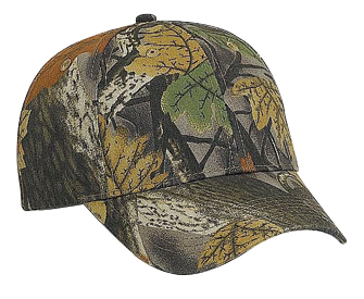 Camouflage brushed cotton twill low profile pro style caps