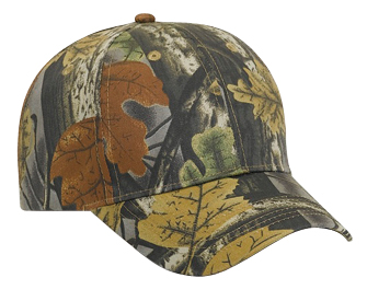 Camouflage cotton twill low profile pro style cap