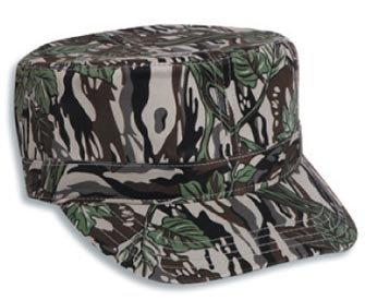 Camouflage cotton twill military style cap