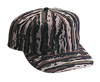 Camouflage cotton twill pro style caps (regular and plain front)