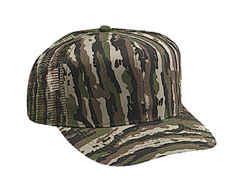 Camouflage cotton twill pro style mesh back caps