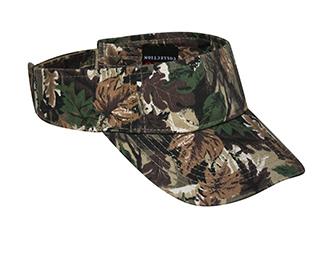 Camouflage cotton twill sun visors