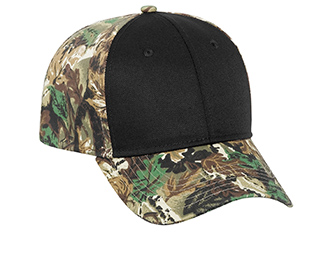 Camouflage cotton twill two tone color six panel low profile pro style caps