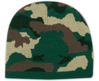 Camouflage design acrylic knit beanie, 8