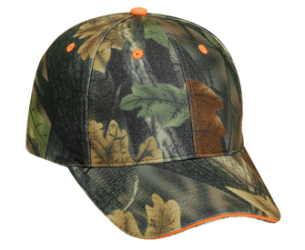 Camouflage polyester sandwich visor low profile pro style caps