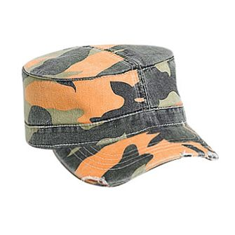Camouflage superior garment washed cotton twill distressed ...