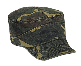 Camouflage superior garment washed cotton twill flexible soft visor military style caps