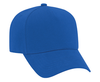 Comfy Cotton jersey knit solid color five panel pro style caps