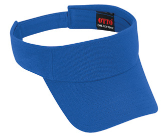 Comfy Cotton pique knit solid color sun visors
