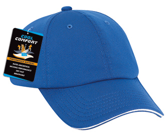 Cool Comfort polyester cool mesh sandwich visor solid color six panel low profile pro style caps