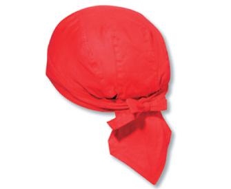 Cotton poplin solid color six panel biker style head wraps
