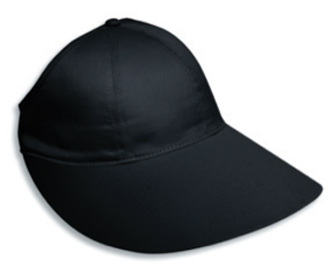 "Cotton twill extra large visor ponytail solid color six panel low profile pro style cap, 11 1/2"" W x 4"" D"