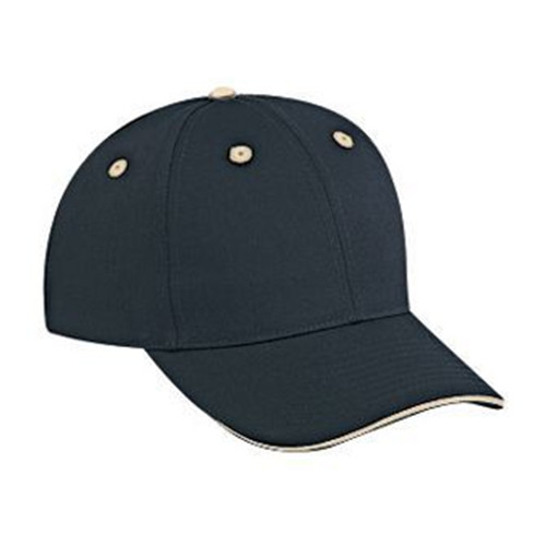 Cotton twill sandwich visor solid and two tone color six panel low profile pro style caps