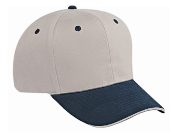 Cotton twill sandwich visor solid and two tone color ...