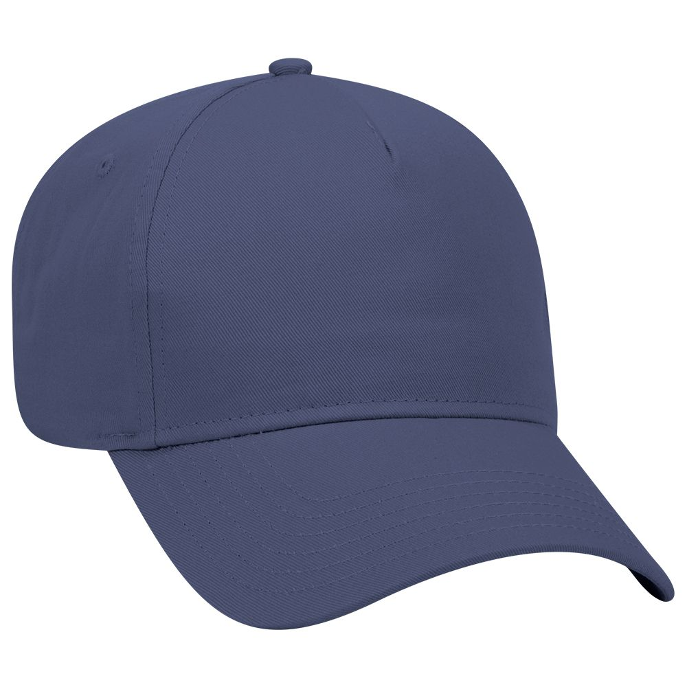Cotton twill solid color five panel low profile pro ...