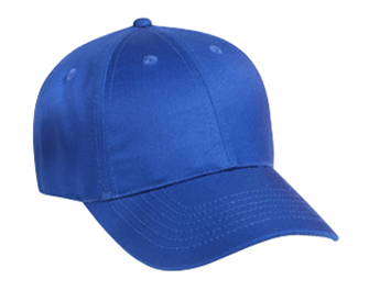 Cotton twill solid color six panel low profile pro style caps