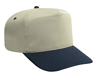 Cotton twill solid and two tone color five panel high crown golf style caps