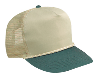 b7b11712527 Cotton twill solid and two tone color five panel high crown golf style mesh  back caps  3.46 - Headwear