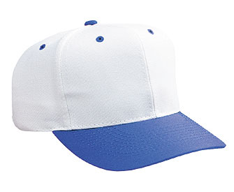 Cotton twill solid and two tone color six panel pro style caps