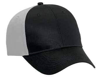Cotton twill two tone color six panel low profile pro style caps