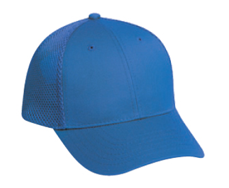 Deluxe cotton twill solid color six panel low profile pro style air mesh back caps