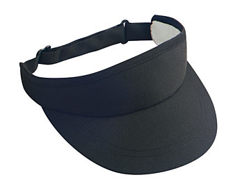 Deluxe cotton twill solid color six panel sun visors