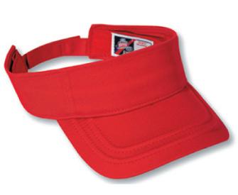 Deluxe cotton twill solid color sun visor
