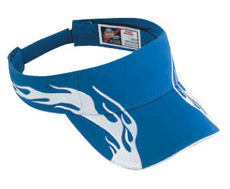 Flame pattern brushed cotton twill sandwich visor two tone color sun visors (2006 OTTO)