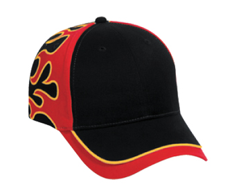 Flame pattern brushed cotton twill sandwich visor two tone color sun ... e6ac846cf7d8