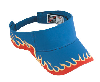 Flame pattern cotton twill two tone color sun visors (2005 OTTO)