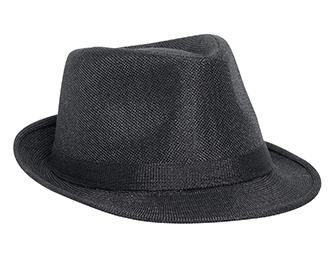 Linen fitted solid color six panel fedora hats