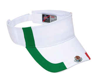 Mexico flag design cotton twill two tone color sun visor