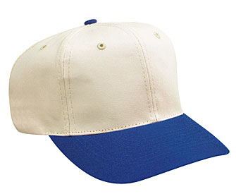 Natural cotton twill two tone color six panel pro style caps