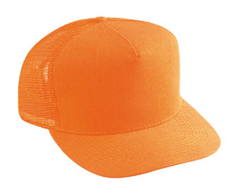 Neon cotton twill solid color six panel five panel low crown golf style mesh back cap
