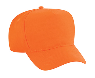 Neon polyester twill solid color six panel five panel ...